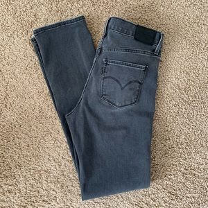 Levi's Gray Jeans Shaping Slim Straight Leg Jeans
